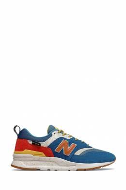 Синие кроссовки с контрастными вставками New Balance 433153029