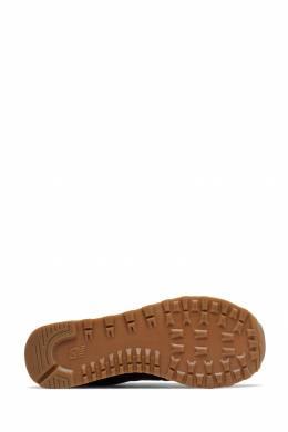Черные кроссовки с коричневой отделкой New Balance 433153085