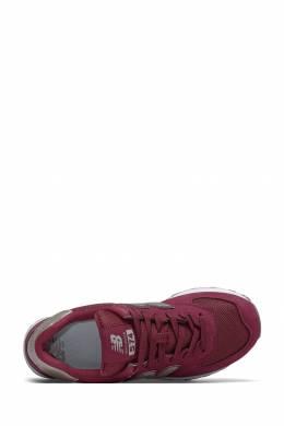Бордовые кроссовки с серебристыми вставками New Balance 433153087