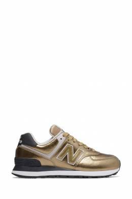 Золотистые кроссовки с логотипом New Balance 433153080