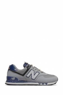 Серые кроссовки с синими вставками New Balance 433153067