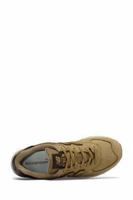 Коричневые кроссовки с контрастной отделкой New Balance 433153065
