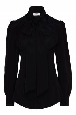 Черная блузка с завязкой Izeta 2576153054
