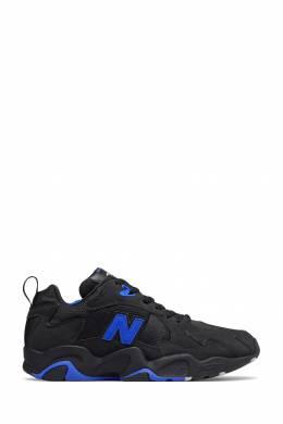 Черные кроссовки с синим логотипом New Balance 433153077