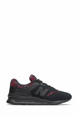 Черные кроссовки с отделкой в клетку New Balance 433153092