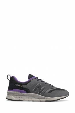 Серые кроссовки с контрастной отделкой New Balance 433153031