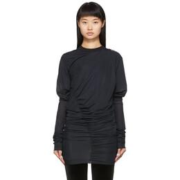 Y / Project SSENSE Exclusive Black Condom Sweatshirt 192893F09600303GB