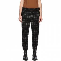 Ann Demeulemeester Black and Off-White Bette Trousers 192378M19101403GB