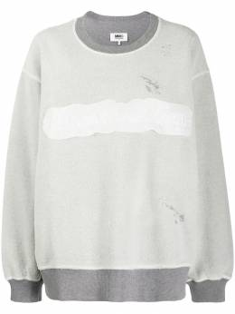 Mm6 Maison Margiela - reversed logo sweatshirt GU6699S0538395566695