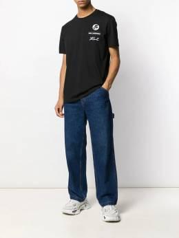 Karl Lagerfeld - футболка с вышитым логотипом 65965900039598359000