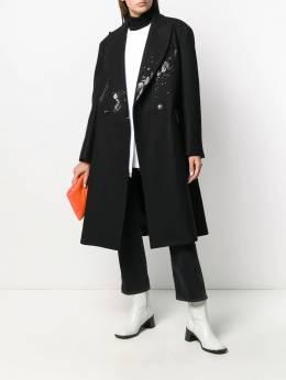 Mm6 Maison Margiela - button-front splatter coat AA6955S5006395086666