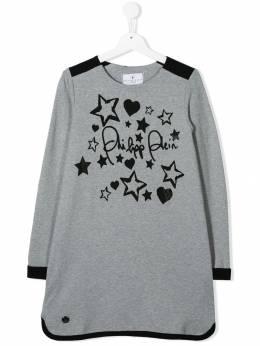 Philipp Plein Junior - TEEN logo printed sweater dress CGJG6638PJO660N95568