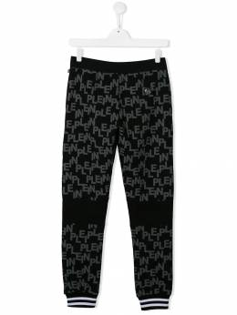 Philipp Plein Junior - all-over logo track pants CBJT6066PJO660N95563