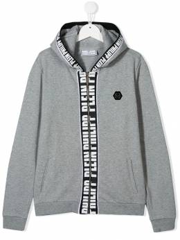 Philipp Plein Junior - logo print bomber jacket CBJB6065PJO660N95596
