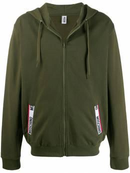 Moschino - logo tape zipped hoodie 58969955990850000000