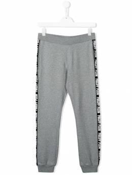 Philipp Plein Junior - TEEN logo lined track pants CBJT6055PJO660N95566