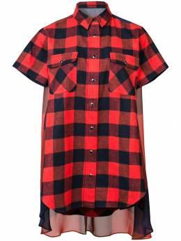 Sacai - платье-рубашка в клетку 39639399996300000000