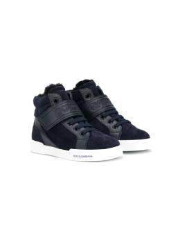 Dolce & Gabbana Kids высокие кроссовки с логотипом DA0742A7174