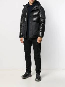 CP Company - feather down hooded jacket 063A665565M955955500