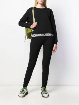Moschino - fitted logo track pants 60966995556969000000