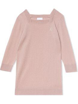 Burberry Kids - трикотажное платье с монограммой 38539535835300000000