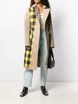 Unravel Project - checked panels trench coat A965F99FAB6609595693