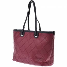 Chanel Bordeaux Matrassé Caviar Leather Tote Bag 227607