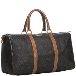Dior Black Brown Honeycomb Duffle Bag 213805