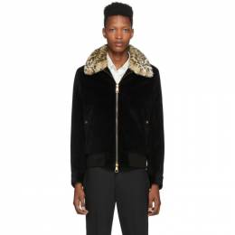 Neil Barrett Black Corduroy Skinny Jacket 192368M18000304GB