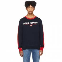 Polo Ralph Lauren Navy and Red Logo Sweater 192213M20100406GB