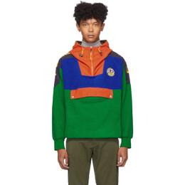 Polo Ralph Lauren Green Fleece Half-Zip Hoodie 192213M20201206GB