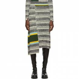 Victoria Beckham Black and White Asymmetric Flared Skirt 192784F09200101GB