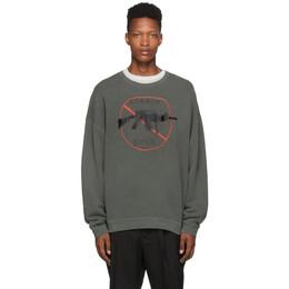 R13 Grey No Guns Sweatshirt 192021M20400404GB