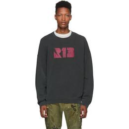 R13 Black Thunderbolt Sweatshirt 192021M20400302GB