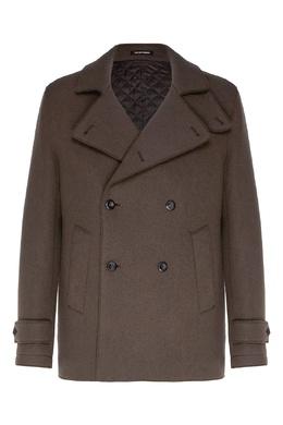 Серое пальто Emporio Armani 2706154044