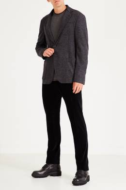 Серый пиджак из шерсти Emporio Armani 2706154043