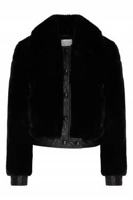 Черная меховая куртка с отделкой Sandro 914153381