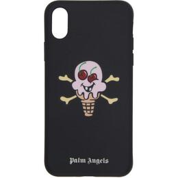 Palm Angels Black ICECREAM Edition iPhone X Case 192695F03201101GB