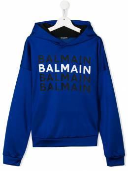 Balmain Kids худи с логотипом 6L4650LB090