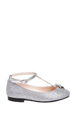 Серебристые туфли с декором Il Gufo 1205153594