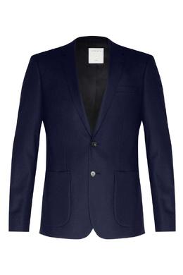 Синий пиджак из шерсти Sandro 914153171