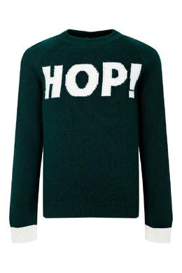 Зеленый свитер с надписью Il Gufo 1205153503