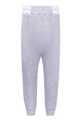 Серые брюки-джоггеры с контрастной отделкой Fendi Kids 690154031