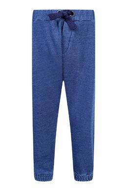 Синие брюки-джоггеры с лампасами Fendi Kids 690154036