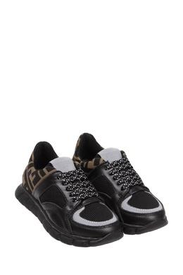 Комбинированные кроссовки с логотипами Fendi Kids 690154216
