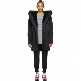 Opening Ceremony Reversible Black Fur-Lined Coat 192261F05900102GB