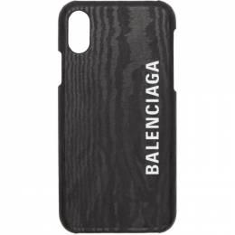 Balenciaga Black Leather Logo iPhone X/XS Case 192342M15300101GB