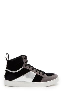 Высокие черно-серые кеды Emporio Armani 2706154147