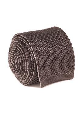 Вязаный коричневый галстук Brioni 1670154647