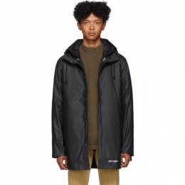 Stutterheim Black Stockholm 3-In-1 Raincoat 192924M17600302GB